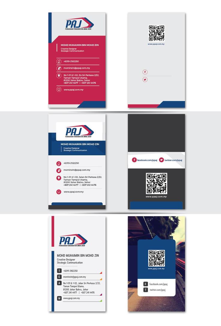 PAJ namecard concept by draxter7