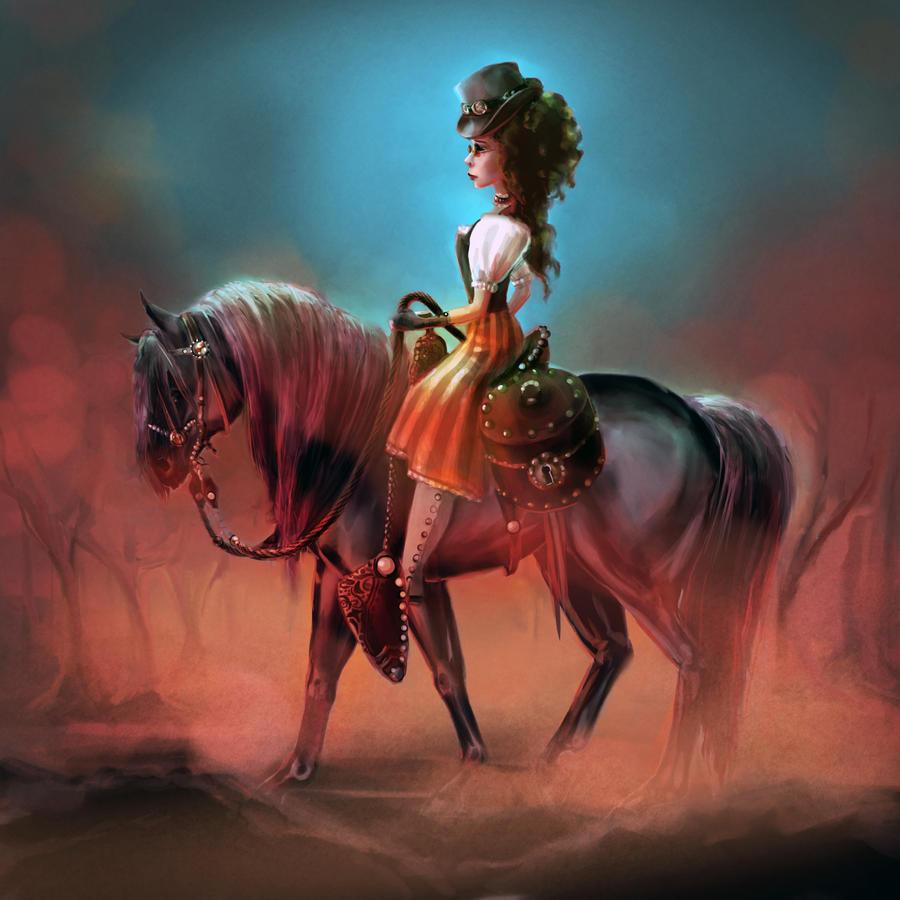 Steampunk Horse Girl by carlylyn