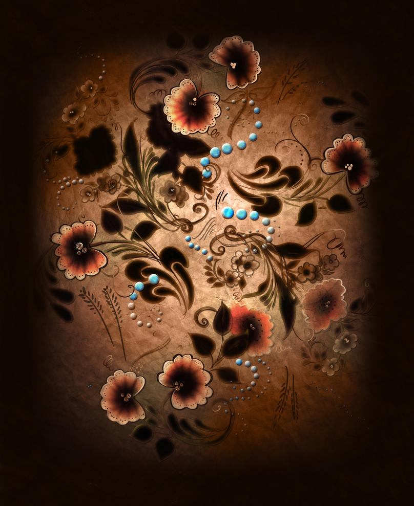 Scribbly Rosemaling by carlylyn