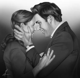 Jim and Pam from the Office by Somelarder