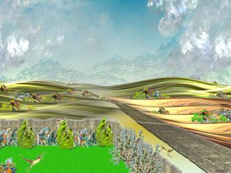 Landscape in Apophysis by patrx
