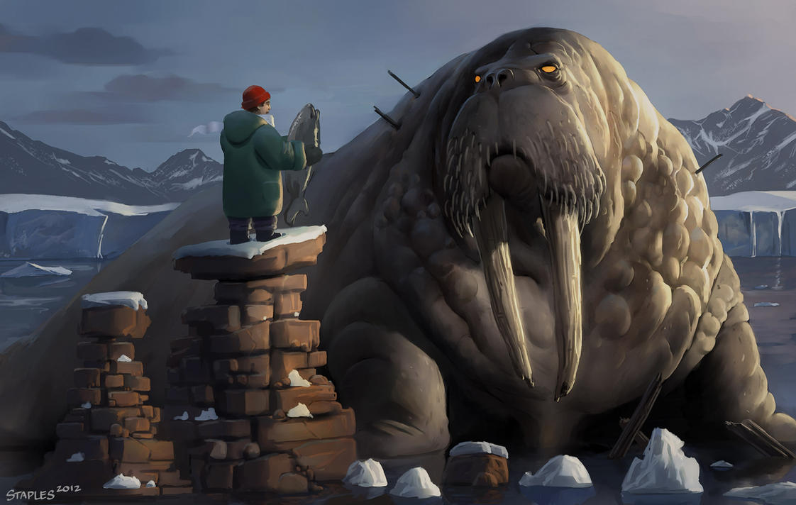 walrus god by staplesart on deviantart