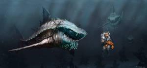 Shark vs Diver