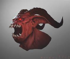 Diablo III Fallen Overseer Speedpaint by StaplesART