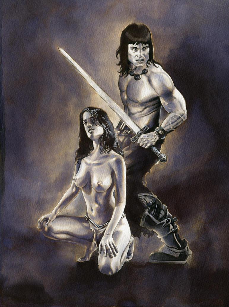 Conan the Barbarian and Devi Yasmina - SOLD by dimitriskoskinas