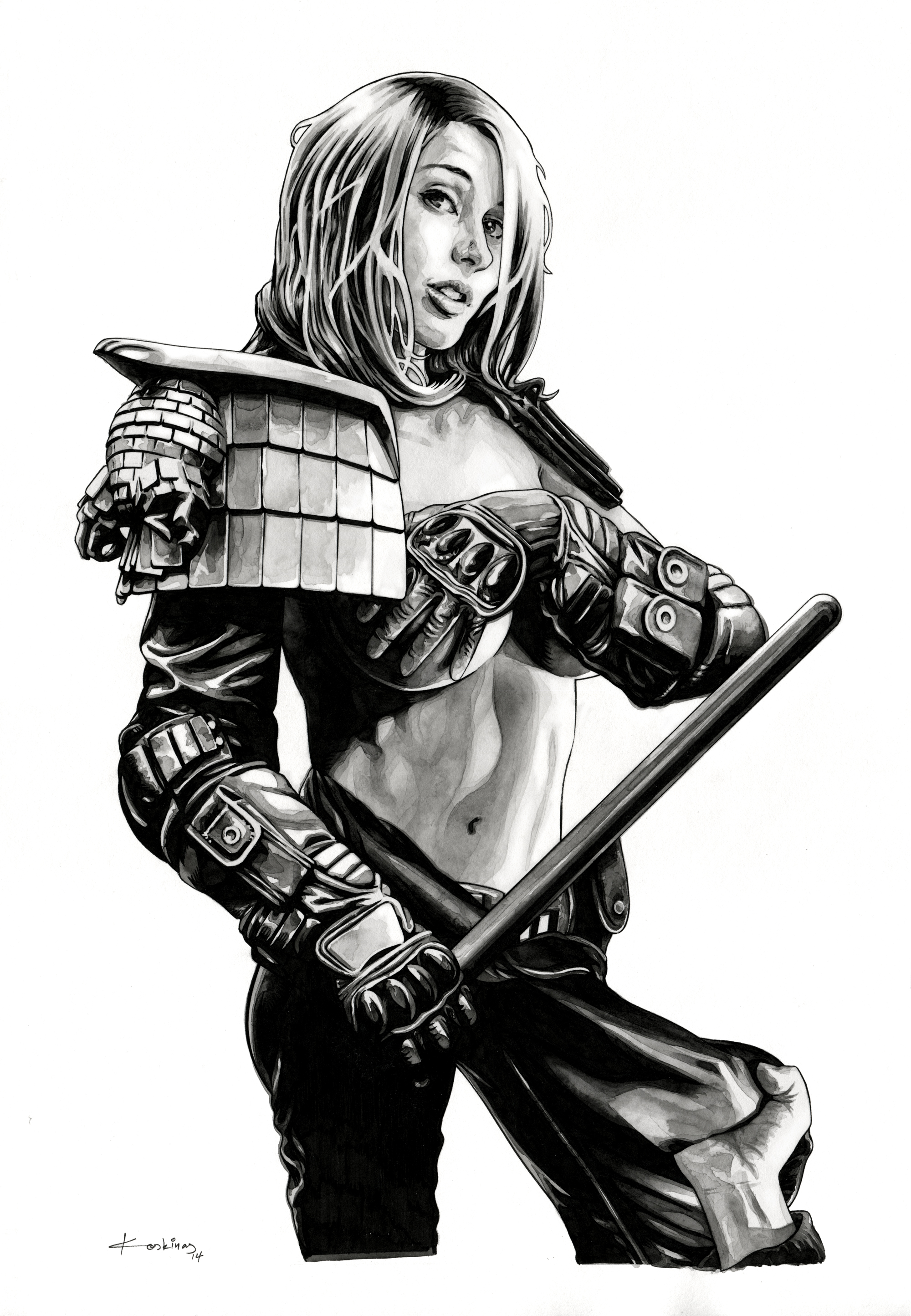Never mess with Judge Anderson ! by dimitriskoskinas
