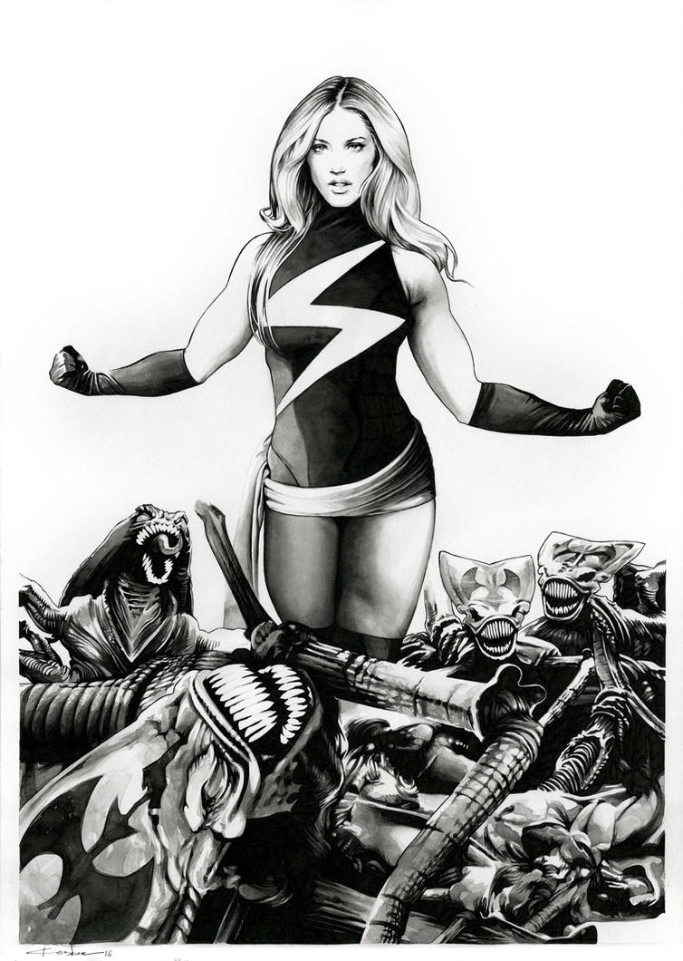 Ms Marvel VS The Brood (for sale) by dimitriskoskinas