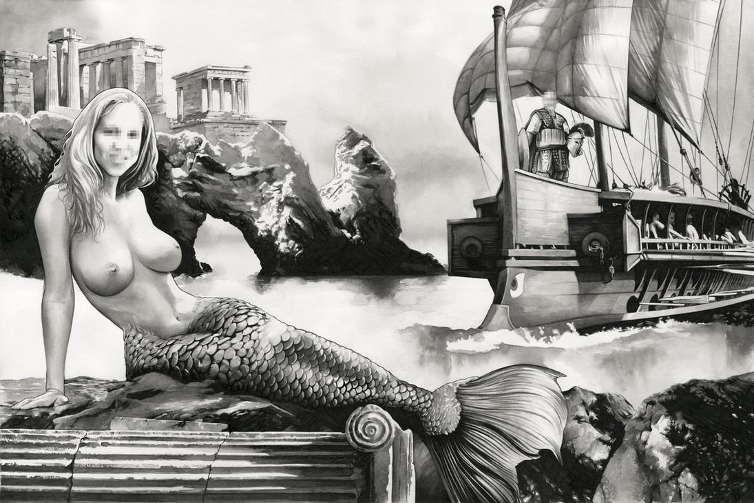 The Mermaid (Sold) by dimitriskoskinas