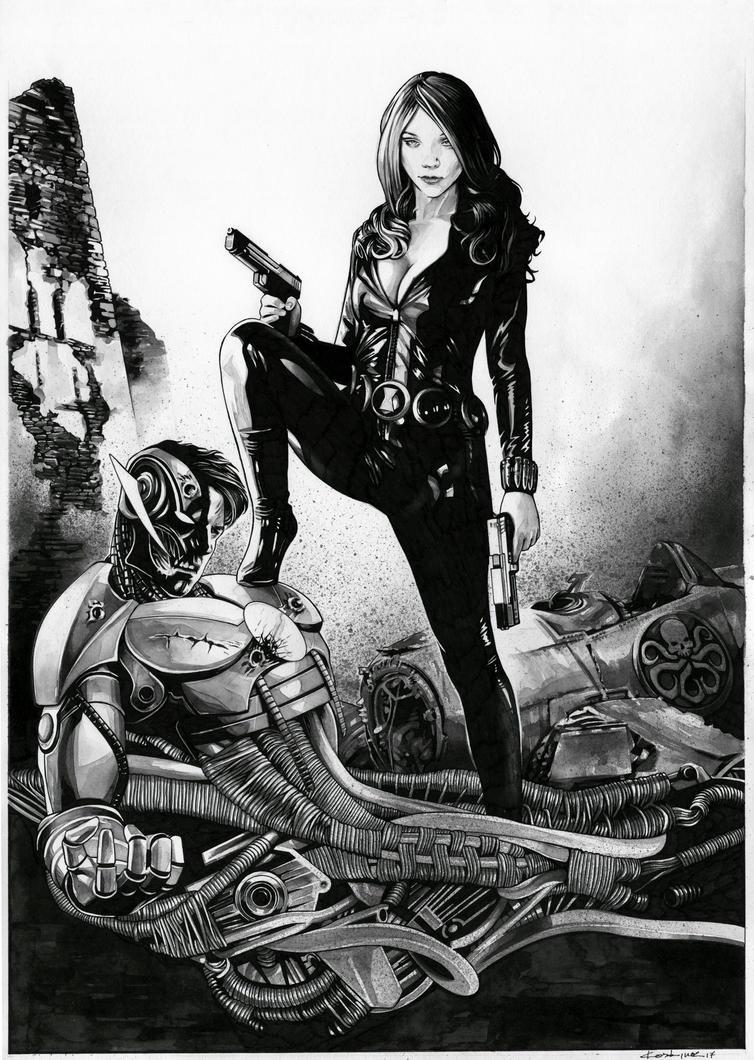 The Black Widow VS Pym-Ultron by dimitriskoskinas