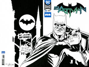Batman and Catwoman on Blank Cover