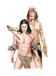 Tarzan and Queen La of Opar