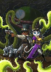 SteamCatz vs Monocle Flytrap by ThaneBobo