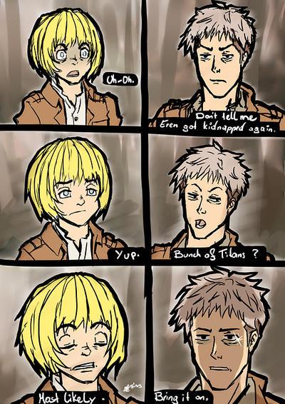 Armin and Jean must going through a lot of shit by DerTerrorKruemel