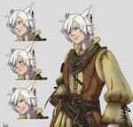 COM - Miqo'te Sprite in Fire Emblem Fates Style 3