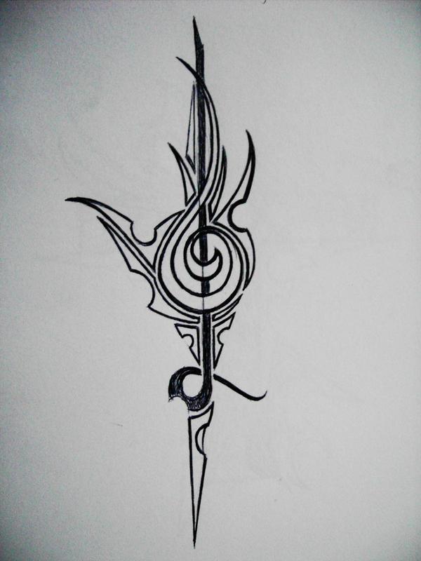 tribal treble clef by gedash on deviantart. Black Bedroom Furniture Sets. Home Design Ideas
