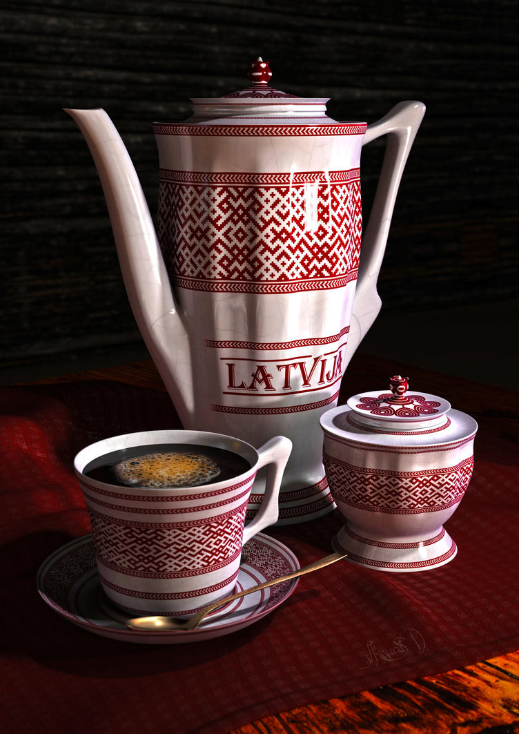 Ceramic Tableware ''Latvija'' by Gothicpagan