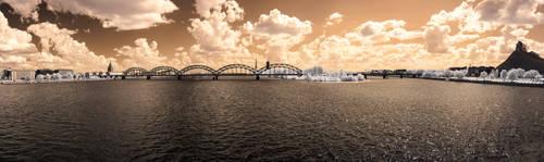 Infrared world - Riga by Tabanos