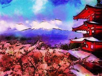 Mt. Fuji by Theophobus