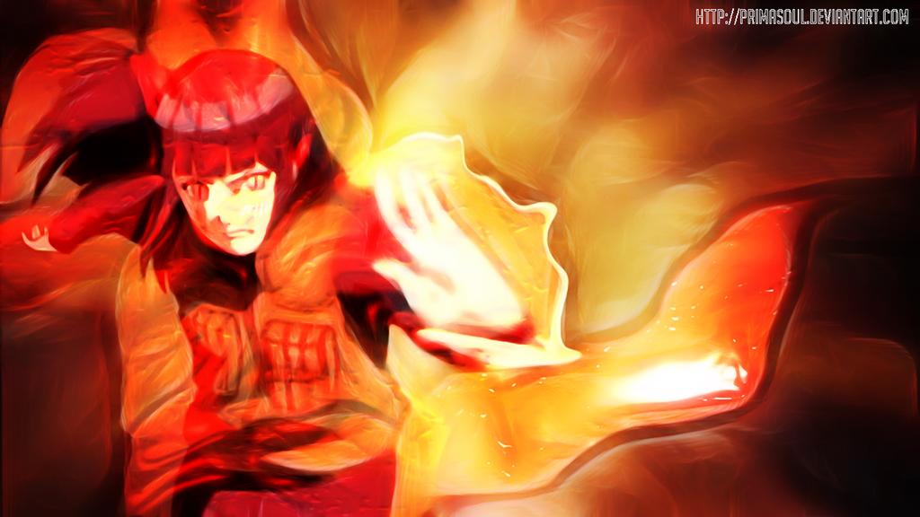 Hyuuga Hinata, Kyuubi Mode - Gentle Fist Bomb by PrimaSoul