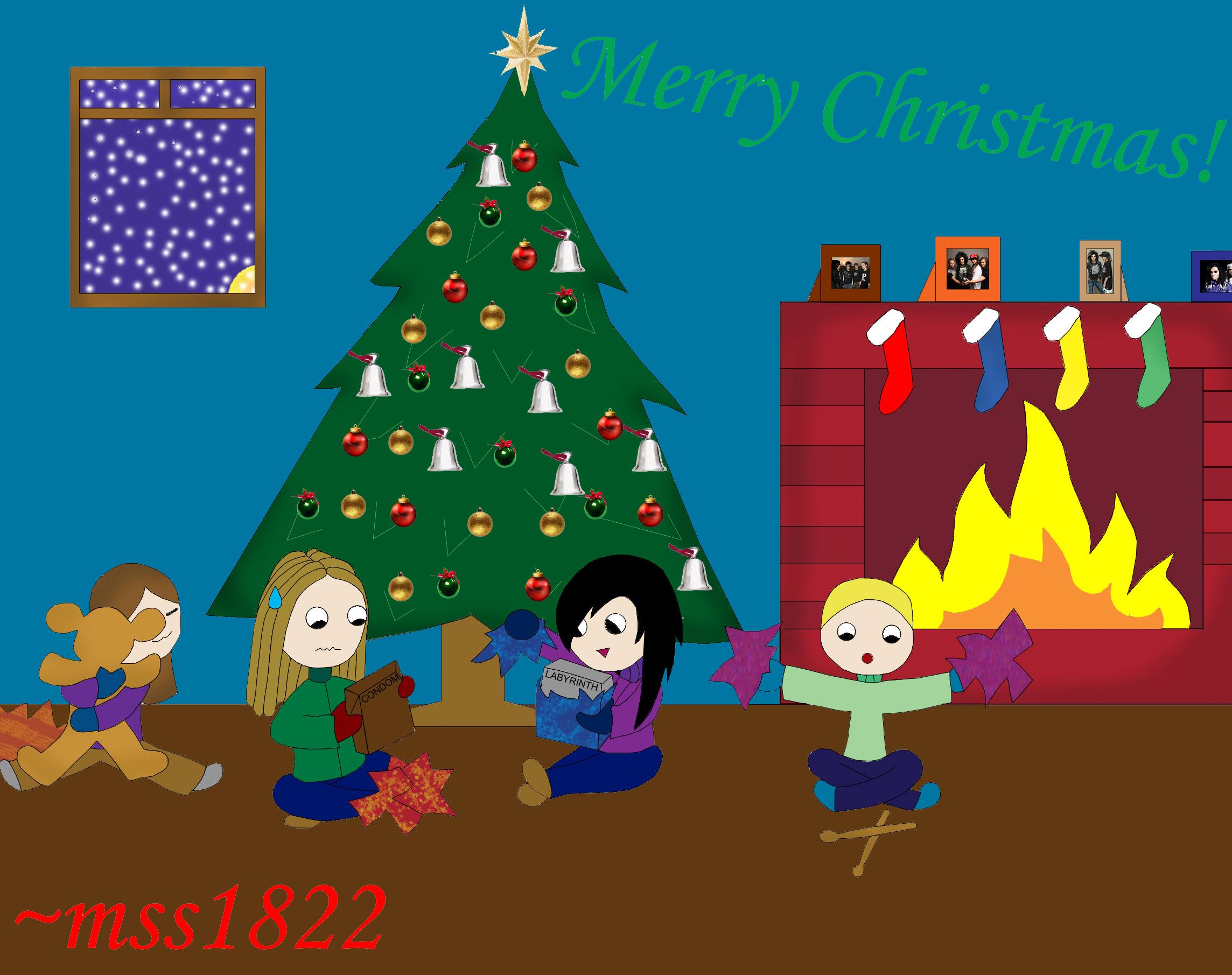 Merry Christmas Tokio Hotel :D by MomoScarletKaulitz