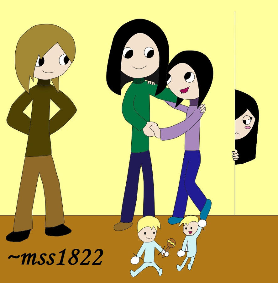 My Online Family [colored] by MomoScarletKaulitz