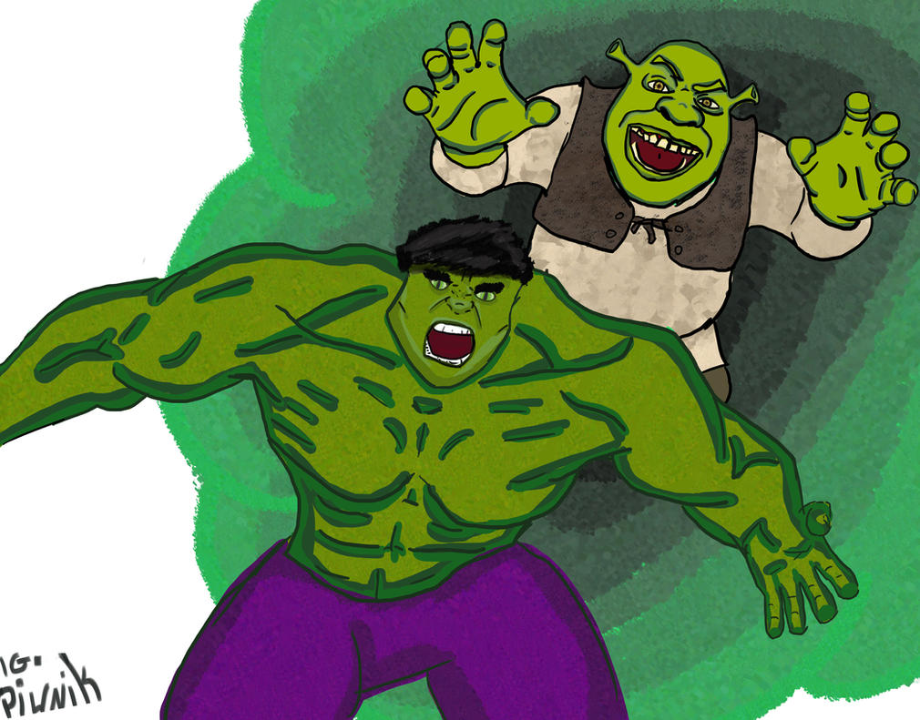 Hulk Feat Shrek by igpiwnik