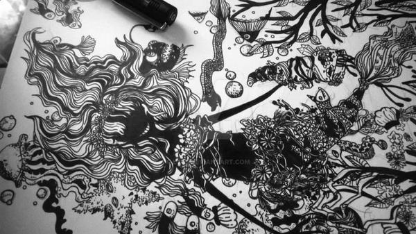 black mermaid by Ly09