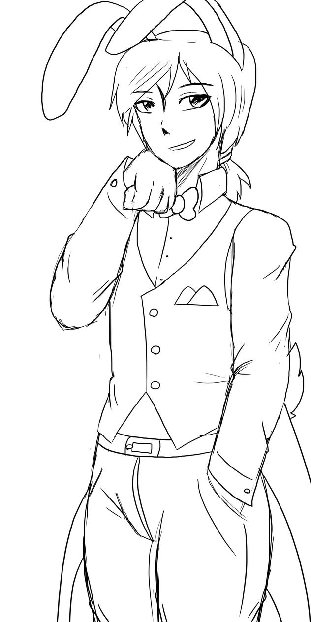 Bonnie lineart by tri falls on deviantart for Fnaf anime coloring pages