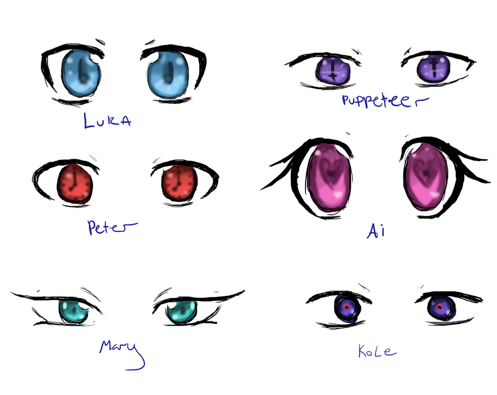 Anime Characters With 3 Eyes : Robot character eyes by tri falls on deviantart