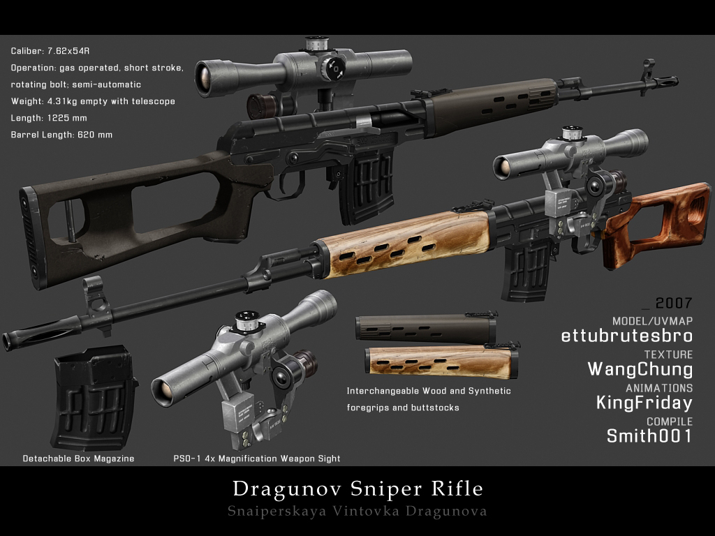 Dragunov Sniper Rifle By ImWangChung