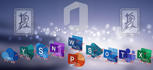 Microsoft Office 3D icons.