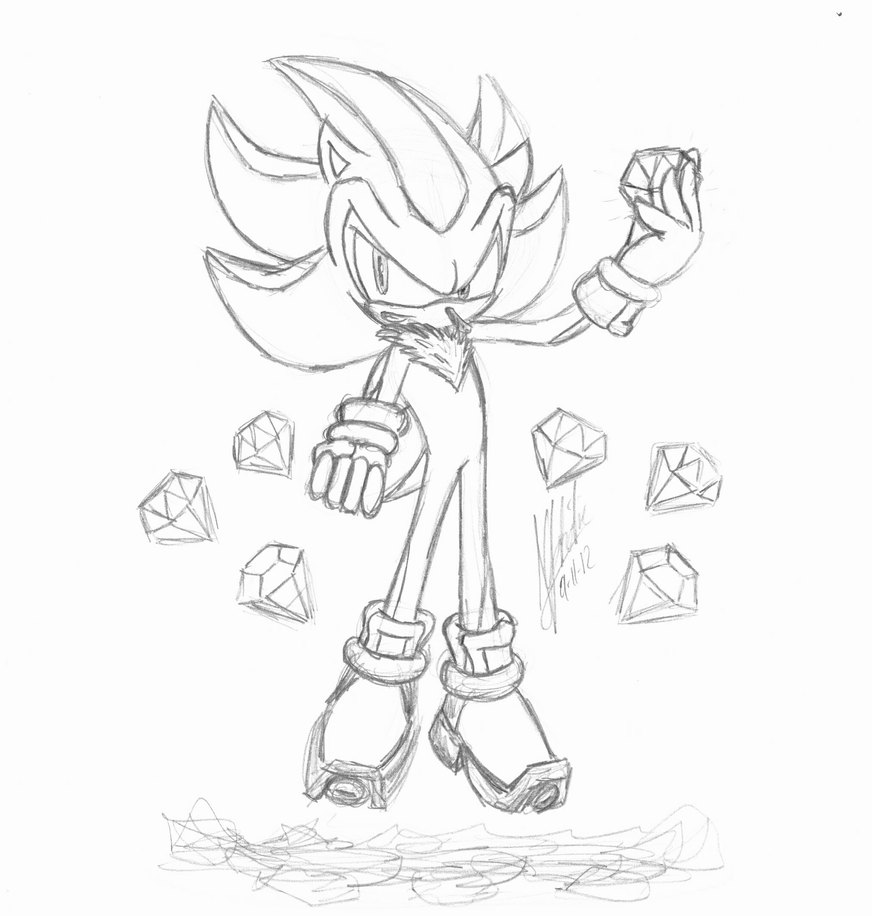 chaos emerald coloring pages - photo#13