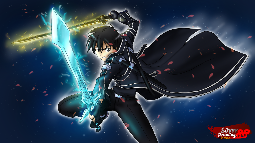 Kirito - Dual Sword by SilverDrawing88