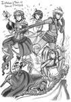 Inktober 2019 - Day 01 - Tales of Destiny 2 by Nabuco88