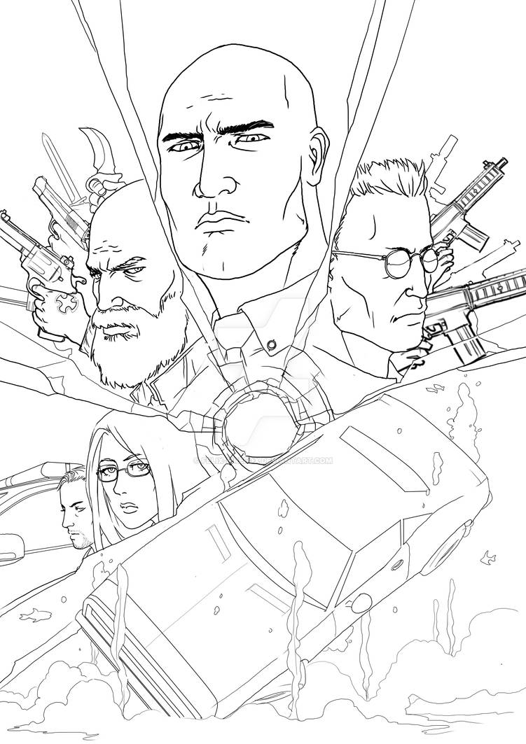 Broken down and 5 dead bodies comic cover