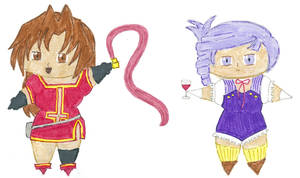 Chibi Eclaire and Lumiere by kilted-katana