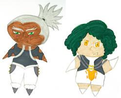 Chibi Un-ou and A-ou by kilted-katana