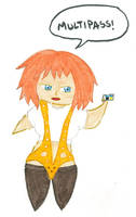 Chibi Leeloo by kilted-katana