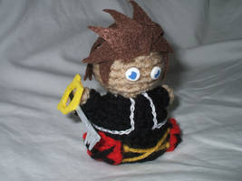 Crocheted Chibi Sora by kilted-katana