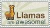 Llama Awesomeness Stamp