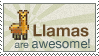Llama Awesomeness Stamp by sudhithxavier