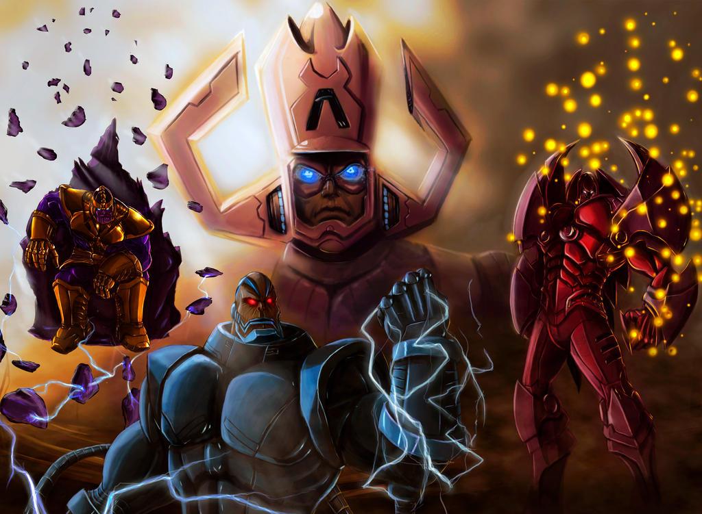 Villanos Marvel by ilustrax