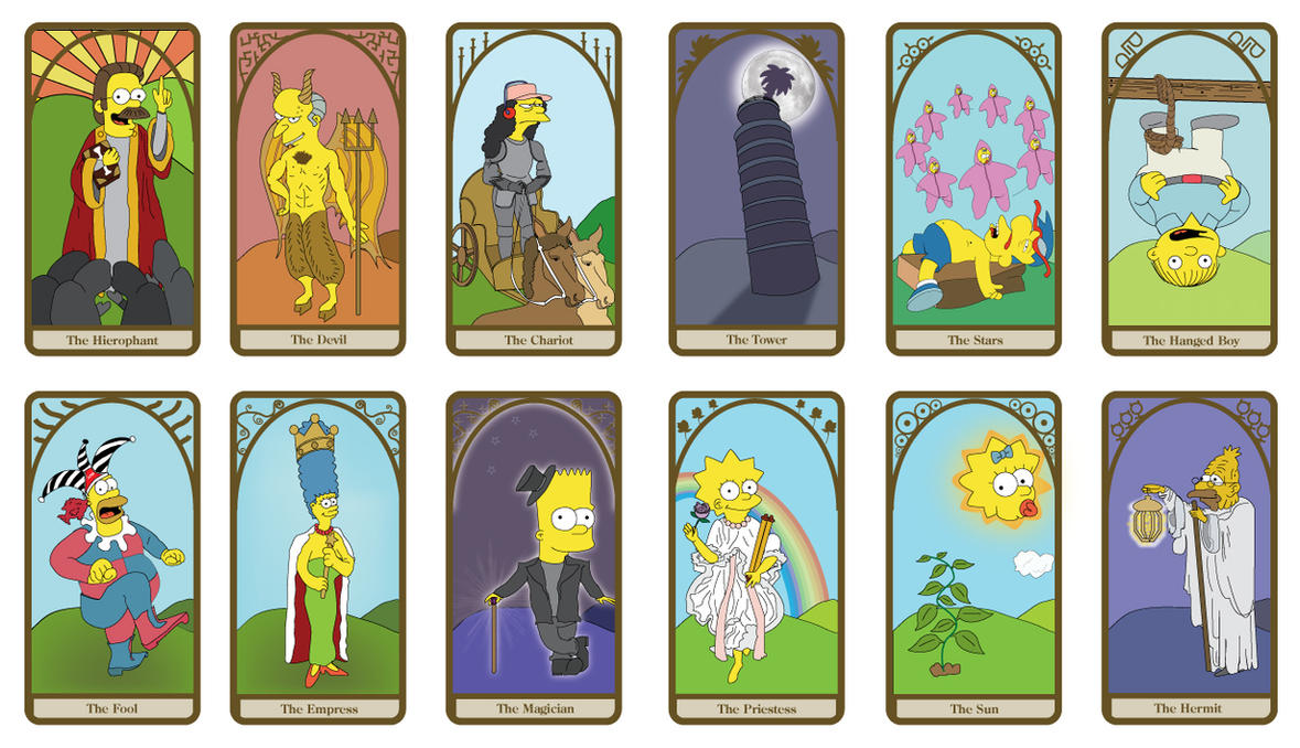 Simpsons Tarot Cards by dustbean11