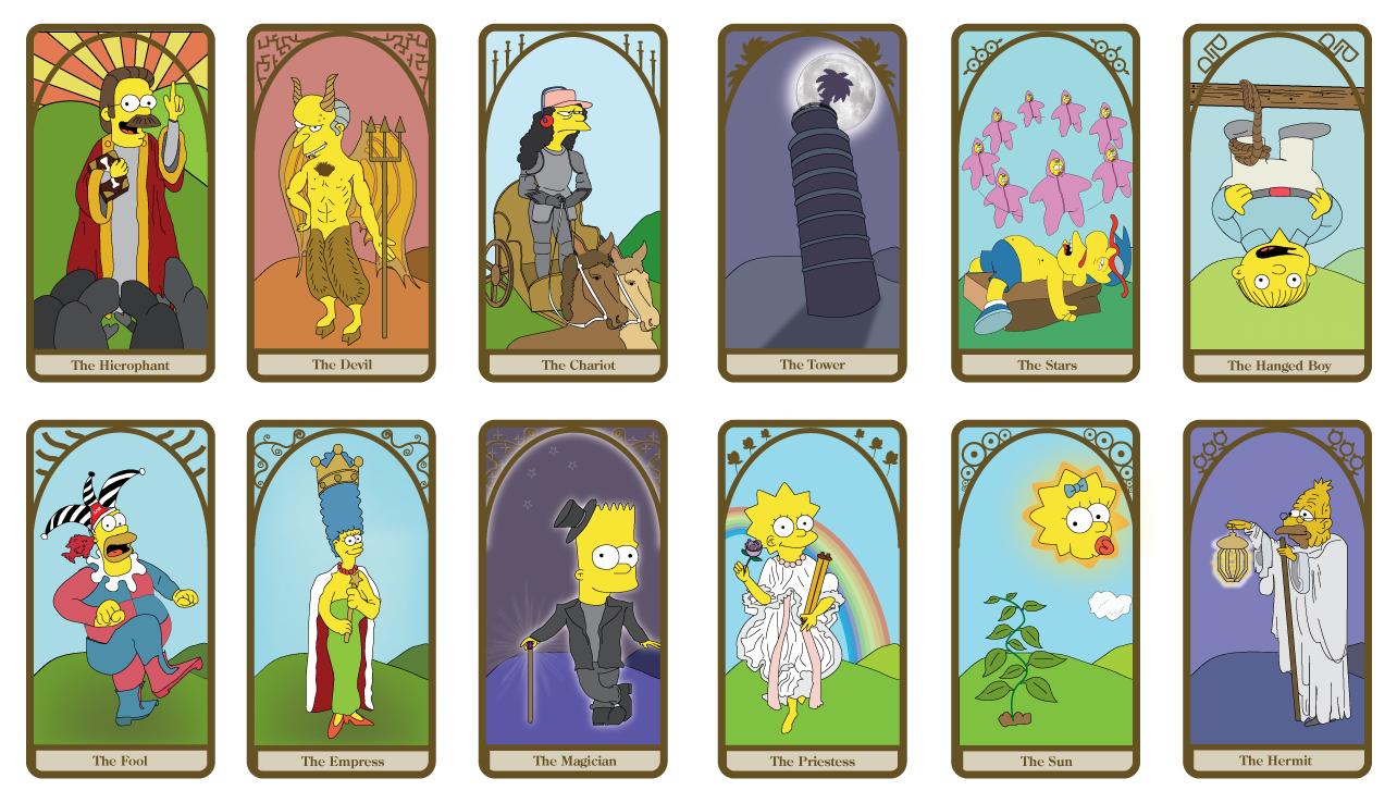 Simpsons Tarot Cards by dustbean11