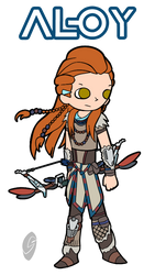 Aloy (Pop'n Music style) by CYSYS8993