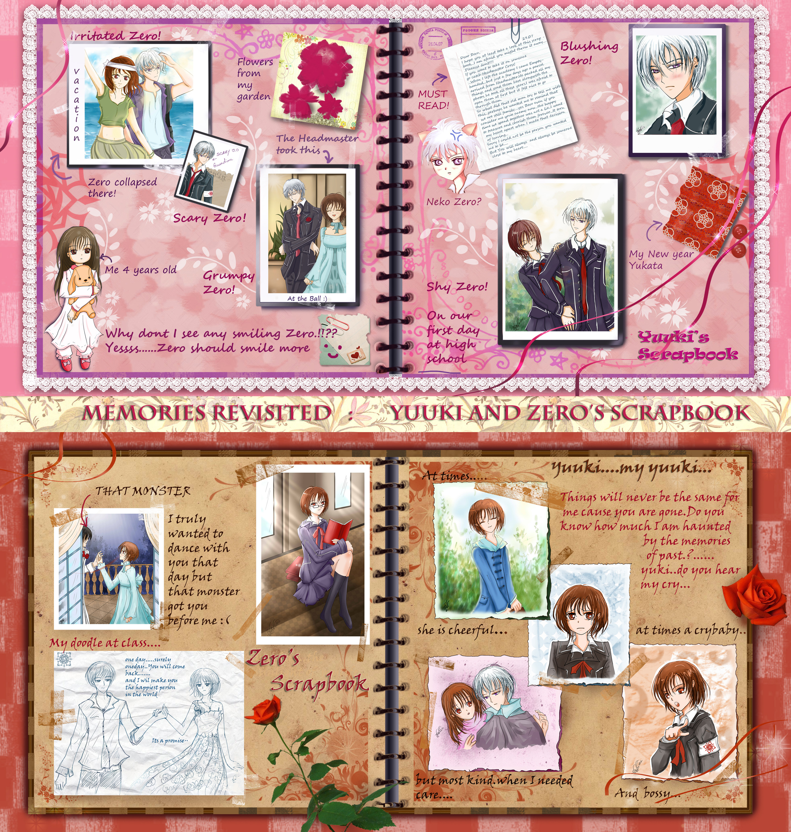 Memories revisited: Yuuki and Zero's Scrapbook by BlueBell-Sumi