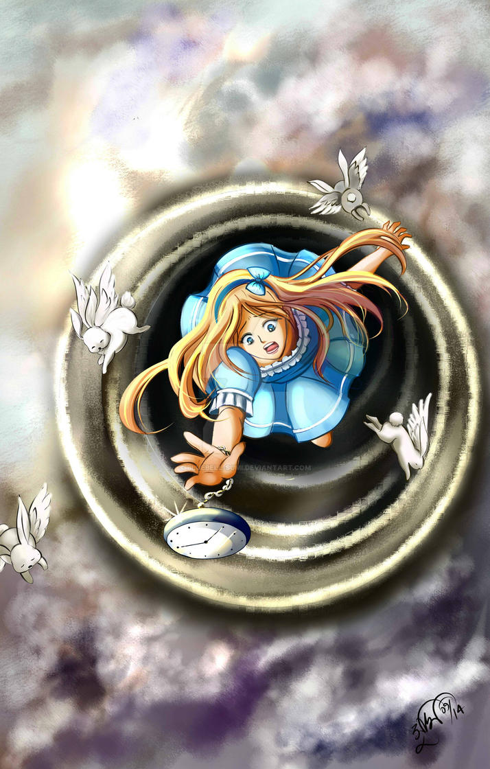 Alice up the sky by BlueBell-Sumi