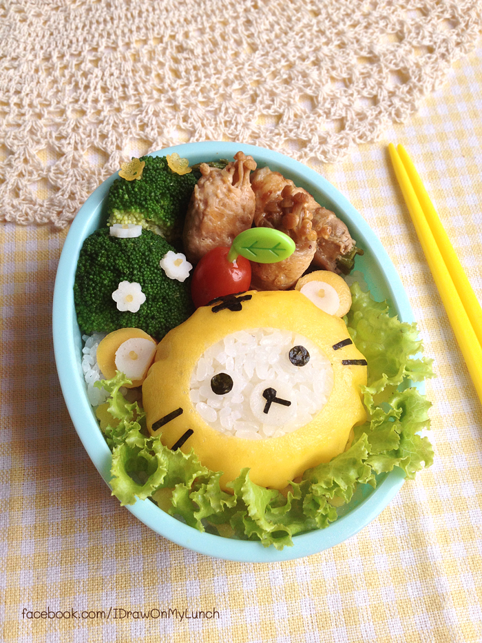 tiger rilakkuma bento lunch box by loveewa on deviantart. Black Bedroom Furniture Sets. Home Design Ideas