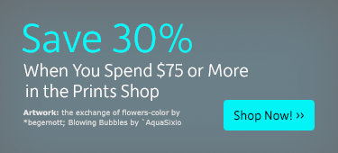 Save 30% when you spend $75 or more
