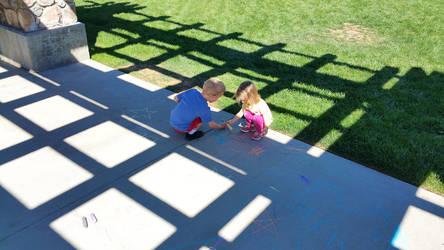 Kids w:Chalk 2016-10-08 by symonx